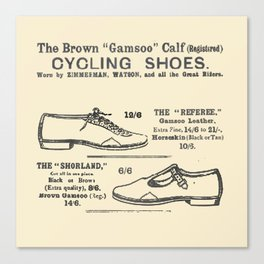 Bicycle Shoes 1895 Canvas Print