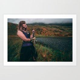 Lady & The Loch v2 Art Print