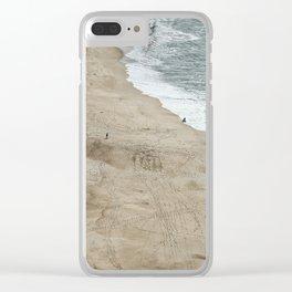 ocean beach sky view Clear iPhone Case