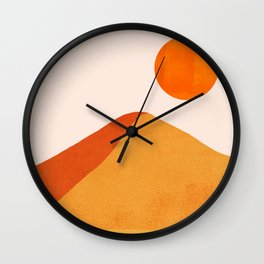 Abstraction_Mountains_SUN_Minimalism_01 Wall Clock