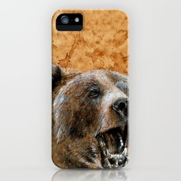 Grizzly bear iPhone Case