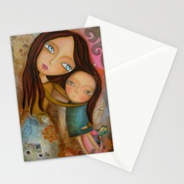 Embrace of a Mother Stationery Cards