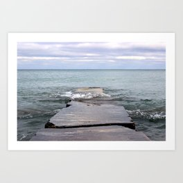 Edge of the world  Art Print