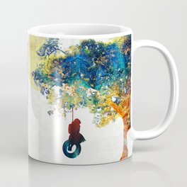 Colorful Landscape Art - The Dreaming Tree - By Sharon Cummings Coffee Mug