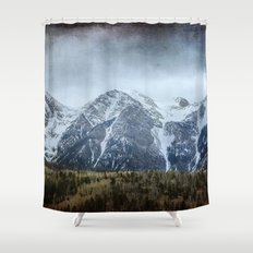 Moody Mountains Shower Curtain