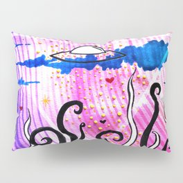 Abstract UFOs Pillow Sham