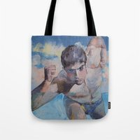 runner Tote Bags featuring Runner by Michael Creese