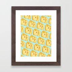 Cheese Pattern Framed Art Print