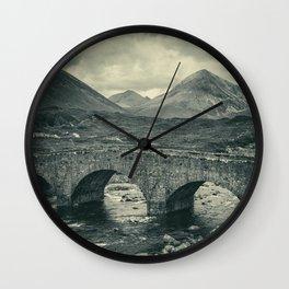 The Bridge and the Cuillin II Wall Clock
