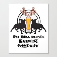 Pit Bull Rescue Beer Poster Canvas Print