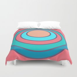 Psychedelic Sunset Peach Duvet Cover