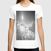 clouds T-shirts featuring Clouds Gray & White by 2sweet4words Designs