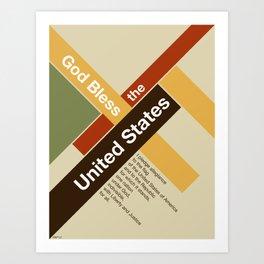 God Bless The United States Art Print