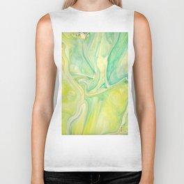 Fluid Nature - Lemon & Lime Sorbet - Acrylic Pour Art Biker Tank