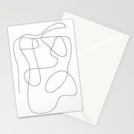 One line art, Line art print, Modern art print, Abstract wall art, One line drawing, Abstract wall art, Minimalist line art, Modern minimalist, Minimal line art, Modern art print, Trendy wall art, Scribble art, Black and white line art Stationery Cards