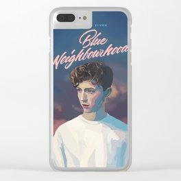 Blue Neighbourhood Clear iPhone Case