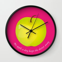 An apple a day keeps the Doctor away Wall Clock