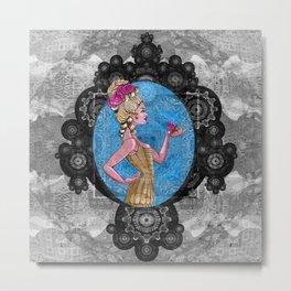 Boho Steampunk Flower Vixen Metal Print
