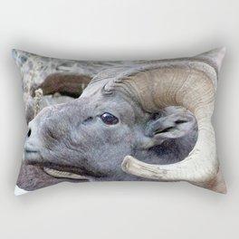 Watercolor Sheep, Bighorn Ram 16, Drake, Colorado Rectangular Pillow