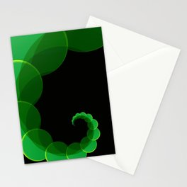 Green Swirl Stationery Cards
