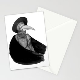Plague Doctor by Studinano Stationery Cards