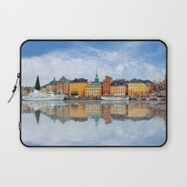 A Panorama of Gamla Stan in Stockholm, Sweden Laptop Sleeve