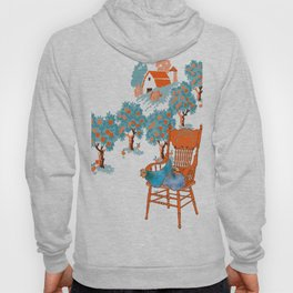 Farm Animals in Chairs #4 Chicken Hoody
