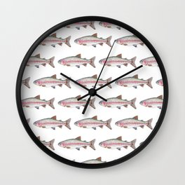 Rory the Rainbow Trout Wall Clock