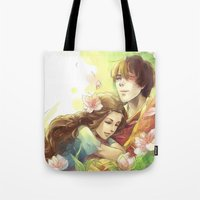 zuko Tote Bags featuring Dreamers by TEAM JUSTICE ink.