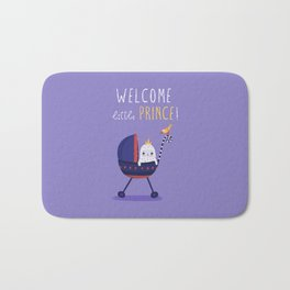Welcome little prince! Bath Mat