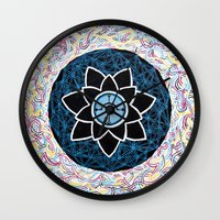 compass Wall Clocks featuring Compass by Meghan Oona Clifford