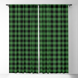 Classic Green Country Cottage Summer Buffalo Plaid Blackout Curtain