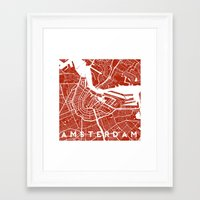 amsterdam Framed Art Prints featuring Amsterdam. by Studio Tesouro