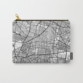 Mexico City Map, Mexico - Black and White Carry-All Pouch