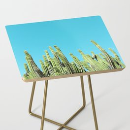 Desert Cactus Reaching for the Blue Sky Side Table