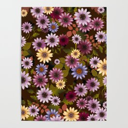 Multicolored natural flowers 3 Poster