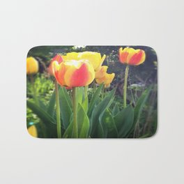 Spring Tulips in Bloom Bath Mat