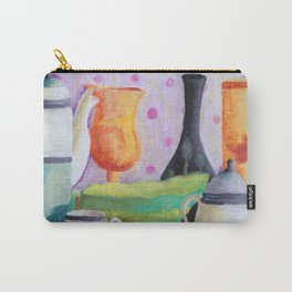 Bottlescape II, Abstract Alice in Wonderland Party Carry-All Pouch