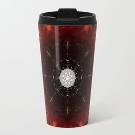 Festive Window Mandala Abstract Design Travel Mug