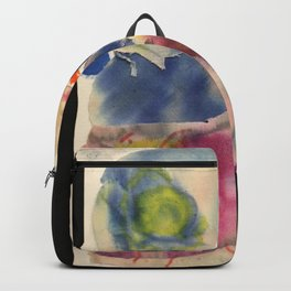 Ripped Canvas Collage Backpack