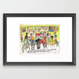 Full House Framed Art Print