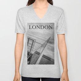 London skyscraper Unisex V-Neck