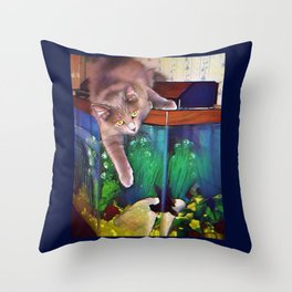 Mary Cat Throw Pillow