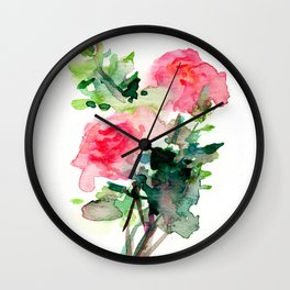 My Roses Don't Smell Like Poop Wall Clock