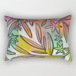 Bright Colorful Jungle Canopy Rectangular Pillow