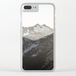 Mountains in Winter Clear iPhone Case