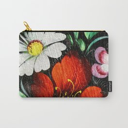 Vintage Flowers 4 Carry-All Pouch