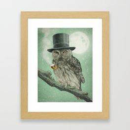 Night Smoke (Color Option) Framed Art Print