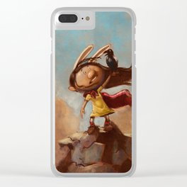 The Rabbit's Unwanted Visitor Clear iPhone Case