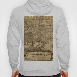 Map Of Palermo 1750 Hoody